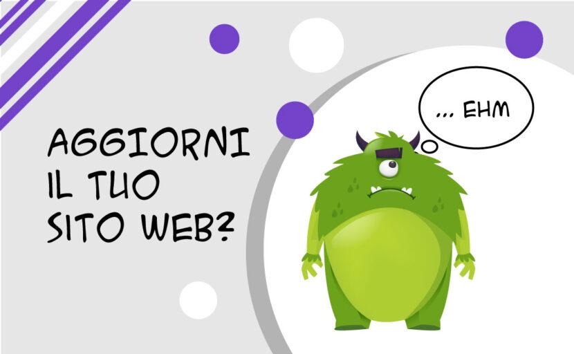 aggiorni il tuo sito